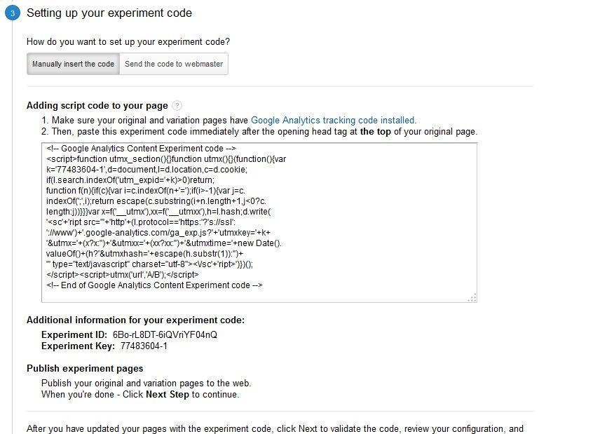 Experiment Code