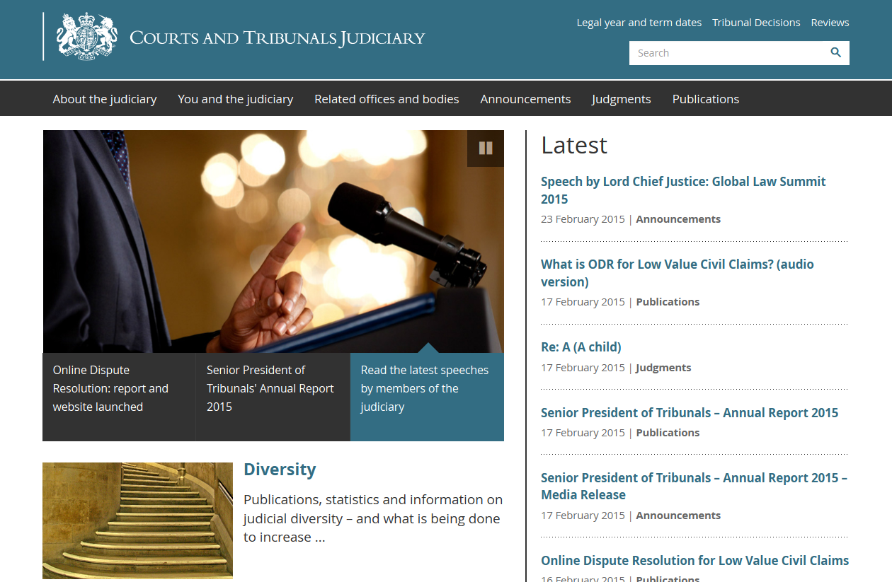 Courts and Tribunals Powered by WordPress