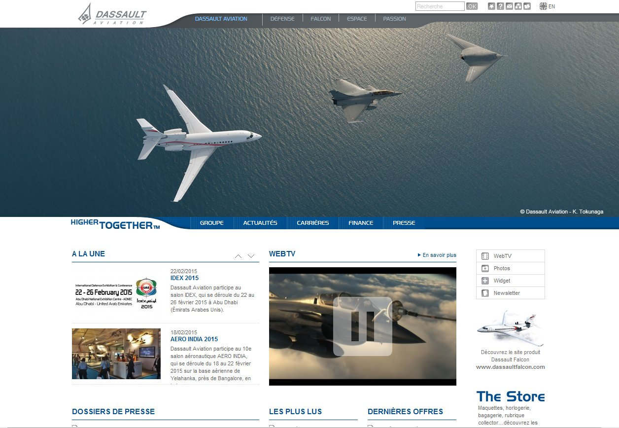 WordPress dassault-aviation