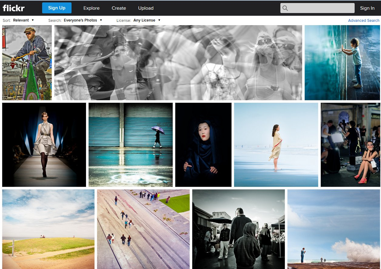 people images on flickr